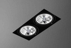 Aquaform Squares 111 375122 32x16 lampa wpuszczana bez ramki 2x100W 230V Alumini (37512-02)