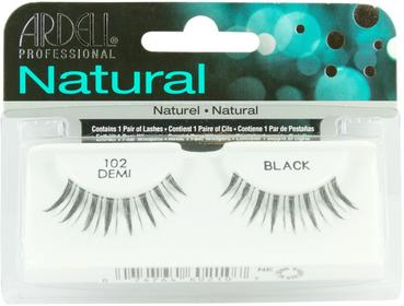 Ardell Natural Lashes 102 Demi Black Czarne rzęsy średniej, naturalnej długości,