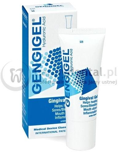 Ricerfarma GENGIGEL 0,2% 20ml - żel zawierający kwas hialuronowy wspomagający go