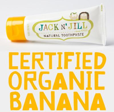 Jack NJill Jack Njill Naturalna Pasta Do Zębów, Organiczny Banan 50G