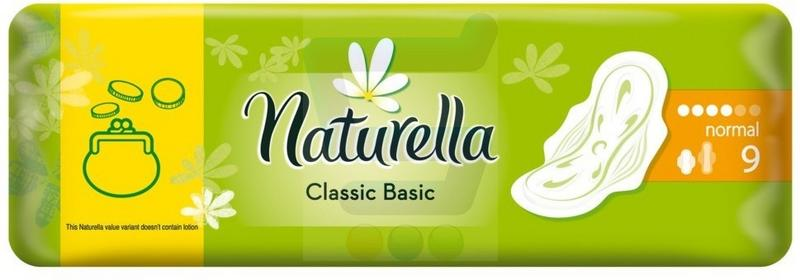 Naturella Classic Basic Podpaski Normal 9 szt.