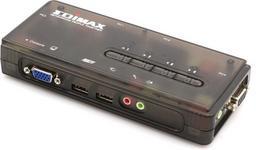 Edimax (EK-UAK4) PRZEŁĄCZNIK KVM 4xUSB AUDIO+MIC 4 x 1.8M kabel