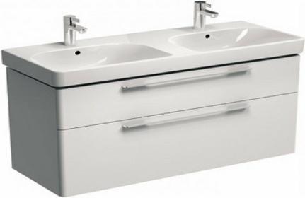 Koło Szafka pod umywalkę TRAFFIC 116,8 x 62,5 x 46,1 cm, wisząca, biały połysk,