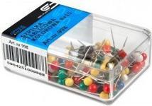 Opinie o E&D PLASTIC SZPILKI tablicowe 4x15mm kolorowe 100 sztuk 998