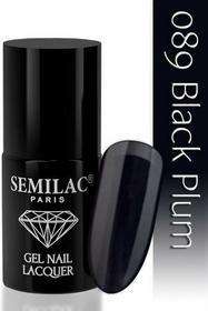 Semilac Lakier hybrydowy 089 Black Plum