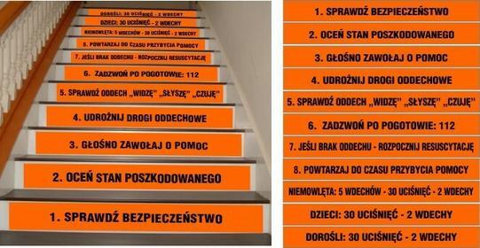 Naklejka na schody - Pierwsza Pomoc