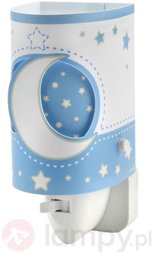 Dziecięca nocna lampka LED Stars jasnoniebieska