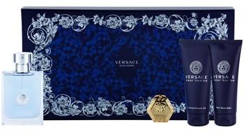 Versace pour Homme woda toaletowa 100 ml + żel pod prysznic 100 ml + woda po goleniu 100 ml + breloczek na klucze 1 ks