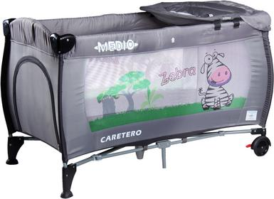 Caretero IKS 2 łóżeczko łóżeczka turystyczne Medio Safari Grey