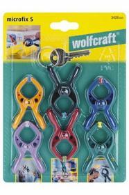 Wolfcraft ZESTAW 6 ściskÓW SPRĘŻYNOWYCH MICROFIX S 3420 000 3420000