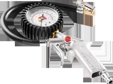 NEO Pistolet do pompowania z manometrem 63 mm 12-546