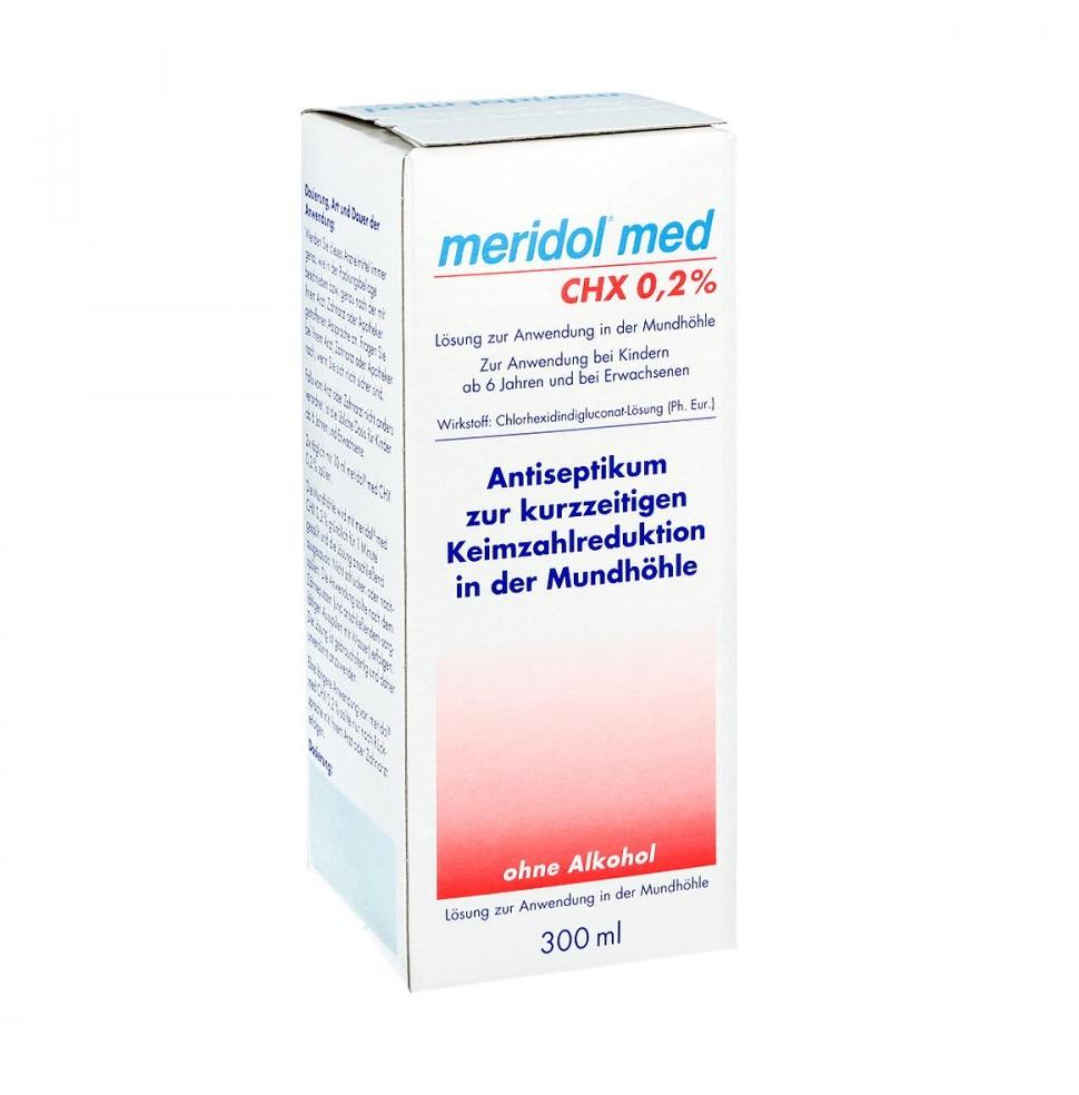 Meridol med Chx 0,2% płyn do płukania jamy ustnej CP GABA GmbH 300 ml