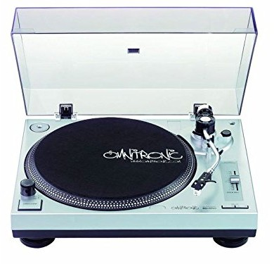Omnitronic BD-1350obrotowy talerz gramofonu (8W) srebrny 4026397093209