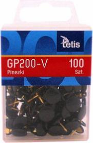 TETIS Melior Pinezki 100szt. - czarne