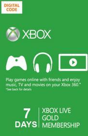Xbox Live Gold 7 dni subskrypcja