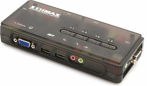 Edimax (EK-UAK4) PRZEŁĄCZNIK KVM 4xUSB, AUDIO+MIC, 4 x 1.8M kabel