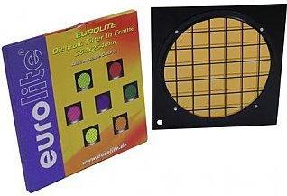 Eurolite Orange dichroic filter black frame PAR-64