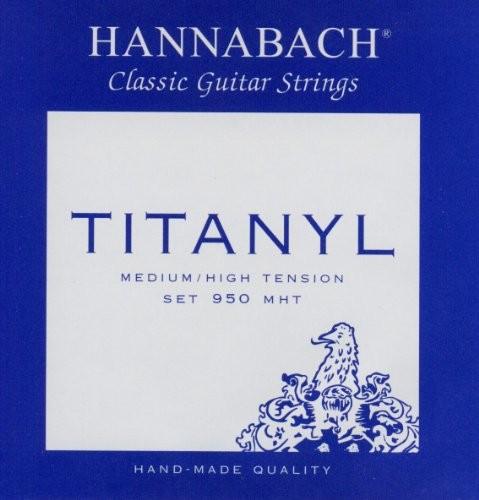 Hannabach Klassik Gita rrensaiten Serie 950średni/High Tension titanylkomplet 653157