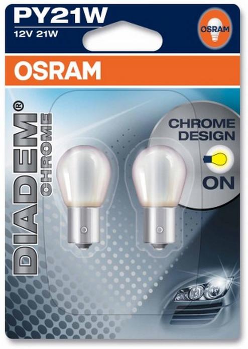 OSRAM PY21W 12V 21W BAU15s DIADEMR CHROME