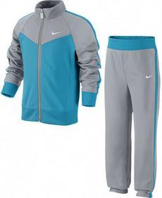 Nike Dres Dziewczęcy Dres Dziewczęcy T40 T Track Suit LG - wolf grey/blue lagoon/wolf grey/white