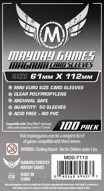 Mayday Games Koszulki Magnum Platinum 61x112 (100szt) MAYDAY