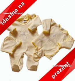 Wyprawka dla noworodka Owieczka jasna żółta na prezent 56