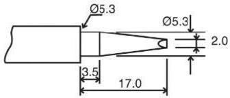 Velleman Grot lutowniczy BITC10N4 kształt dłuta 17 x 2 0 mm