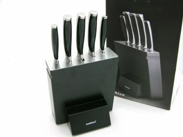 Berghoff COOK Zestaw noży w bloku (6 elementów) Czarne 2801673