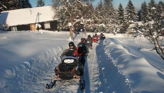 Wyprawa na skuterze śnieżnym z przewodnikiem - Tylicz