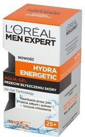 Loreal Paris Men Expert Hydra Energetic 25+ Aqua-Gel przeciw byszczeniu skóry 50