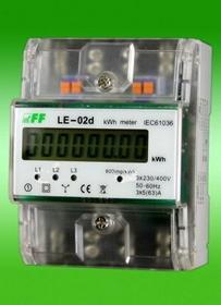 F&F Licznik prądu 3-fazowy 5/63A LE-02D cyfrowy