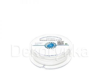 Griffin WAXED COTTON CORD Bawełniany sznurek woskowany 1mm 20m - White
