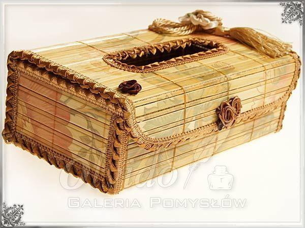 Bambusowe Pudełko - chustecznik JASNY