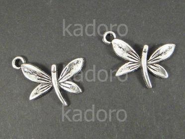 Zawieszka motyl 15x 22 mm kolor srebrny - 1 sztuka
