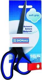 Donau Nożyczki SOFT GRIP 16,5 cm czarno - niebieski - J0106 NB-2562