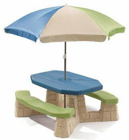 Step2 Stół Piknikowy z Parasolem dla 6-ga dzieci ławeczka 8438
