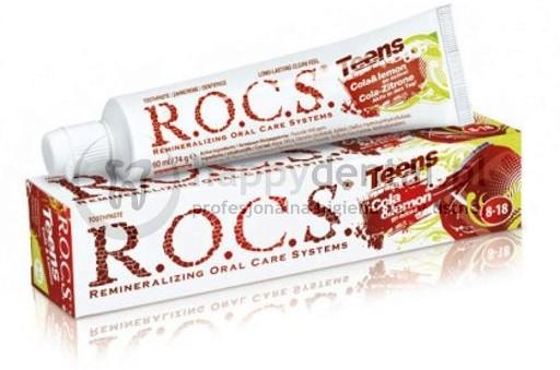 R.O.C.S. ROCS TEENS COLA-CYTRYNA 60ml - pasta do zębów dla dzieci w wieku 8-18 o