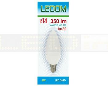 Ledom Żarówka E14 SMD 230V 4W biała ciepła Świeca 245558