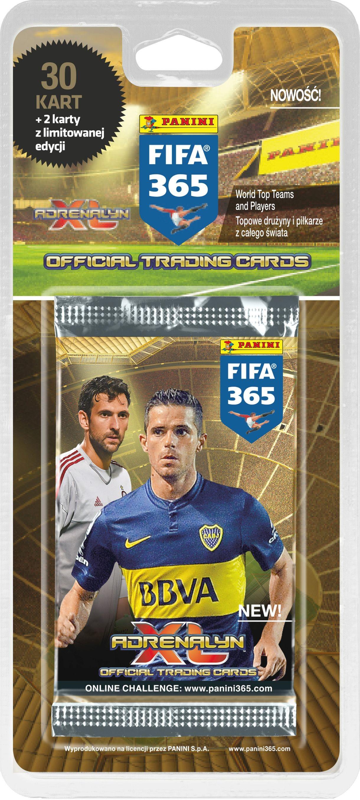 Panini Adrenalyn XL FIFA 365 blister z kartami