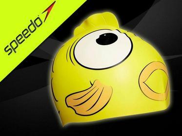 Speedo Czepek dla dzieci Sea Squad Character 8087690000_YELLOW