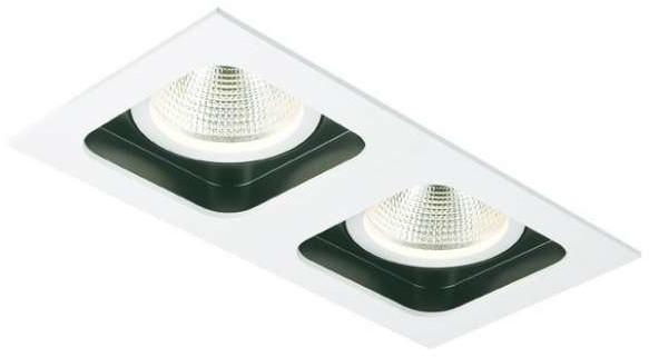 Mistic Lighting Oczko LAMPA sufitowa DOUBLE QUAD QR111 MSTC-05355511 podtynkowa OPRAWA wpust biały