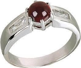 Tyfanit Srebrny pierścionek z granatem R332g