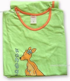 Muzzy Piżamka 3/4 zielona z Panią Kangurzycą M