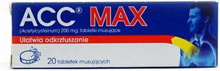 Sandoz ACC Max 200mg 20 szt.