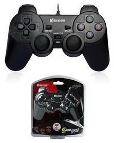 Vakoss Gamepad przewodowy USB z funkcją Dual Shock GP-3755BK