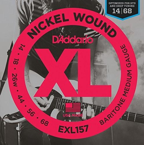 D'Addario Baritone Electric Guitar Strings EXL157