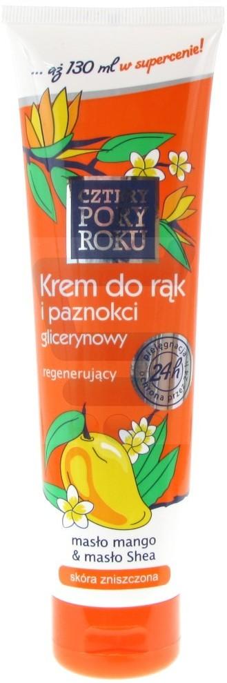 PHARMA-C-FOOD Krem do rąk i paznokci glicerynowy Masło Mango & Masło Shea 130 ml