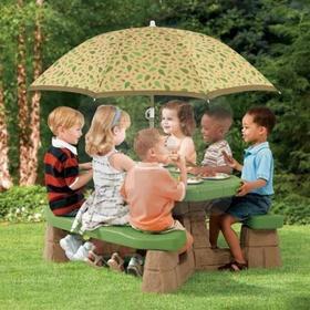 Step2 Stolik piknikowy z parasolem 7877
