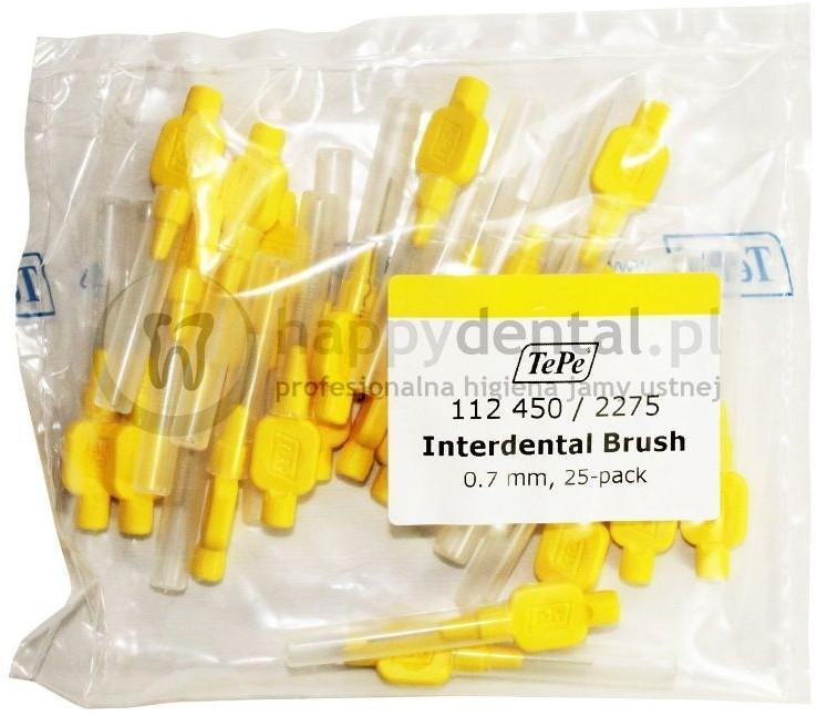 TePe ID Original (0.70mm) żółte 25szt. - zestaw szczoteczek międzyzębowych (szcz