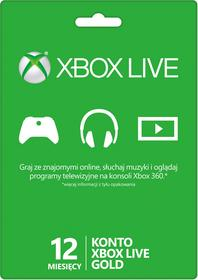 Microsoft Karta Microsoft Xbox Live Gold Abonament Na 12 Miesięcy